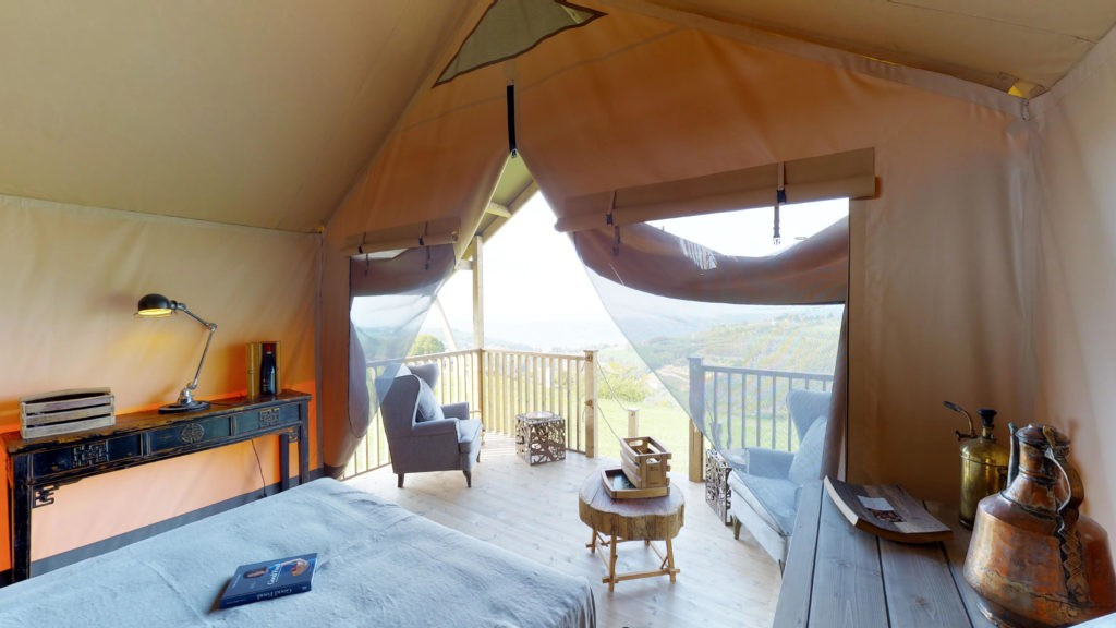 interior glamping tent